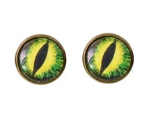 Monster Green Eye Earrings, Eyeballs Earring, Monsters Earrings, Scary ...