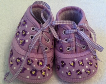 Hand Painted Baby Shoes
