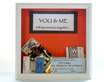 White Ticket Shadow Box - Wedding Gift - Shadow Box Ticket Holder - White Frame - Ticket Keeper Box - Customized Gift - Anniversary Gift