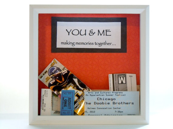 Wedding Gift Shadow Box : White Ticket Shadow Box - Wedding Gift - Shadow Box Ticket Holder ...
