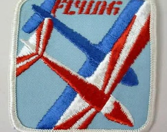 FLYING aviation airplane  jacket or shirt patch.