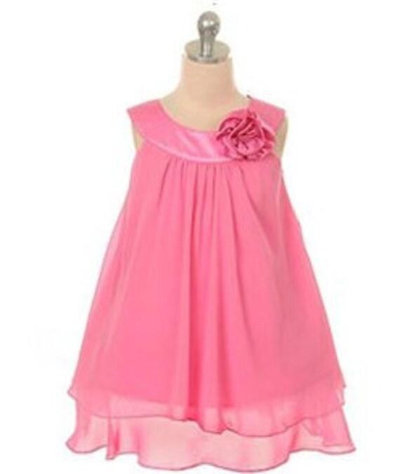 Flower Girl dress Pink dress Girls Easter special occasion wedding dress black purple white dress