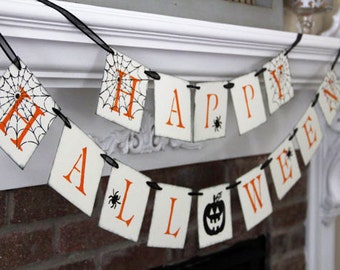 Happy Halloween Banner • Fall Decoration