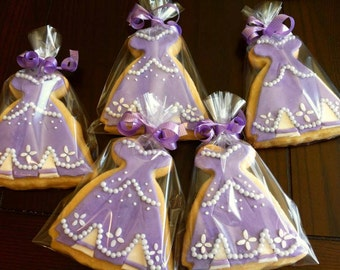 Sofia The First Inspired Cookies 12 pcs. 3 different designs.