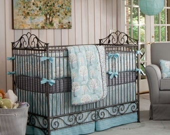 Boy Baby Crib Bedding: Windy Day Crib Bedding - Fabric Swatches Only