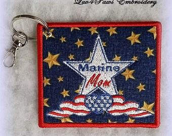 Marine Mom Key Ring