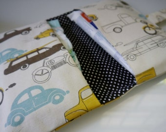 Baby Boy Diaper Clutch Bag | Car Diaper Bag | Small Diaper Bag | Baby Changing Bag | Diaper Bag Organizer Insert | Nappy Wallet | Nappy Bag