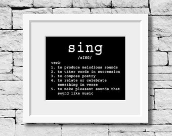 Singer Quote, Sing Definition, Music Teacher, Music Room Decor, Student Musician, Music Student, Music Art, Music Quote, Music Poster