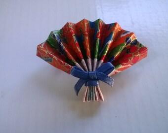 Origami Oriental Fan Brooch