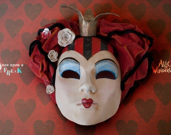 Alice In Wonderland S Queen Of Hearts Venetian Masquerade