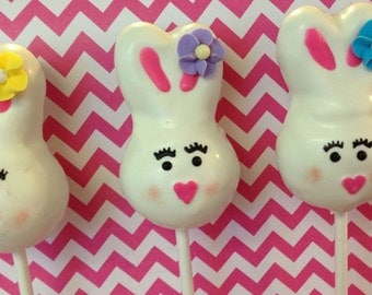 12 Bunny Easter Cake Pops Sweets Table Candy Buffet Party Favors