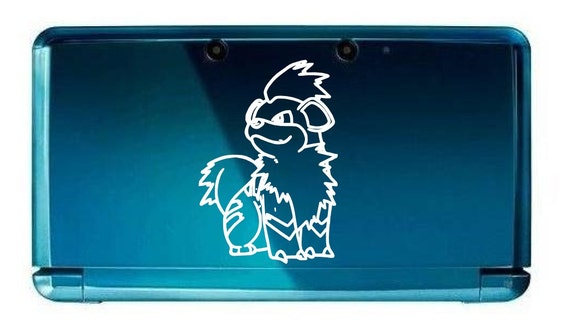 3ds Growlithe pokemon decals for nitendo 3ds or 3ds xl 2X1