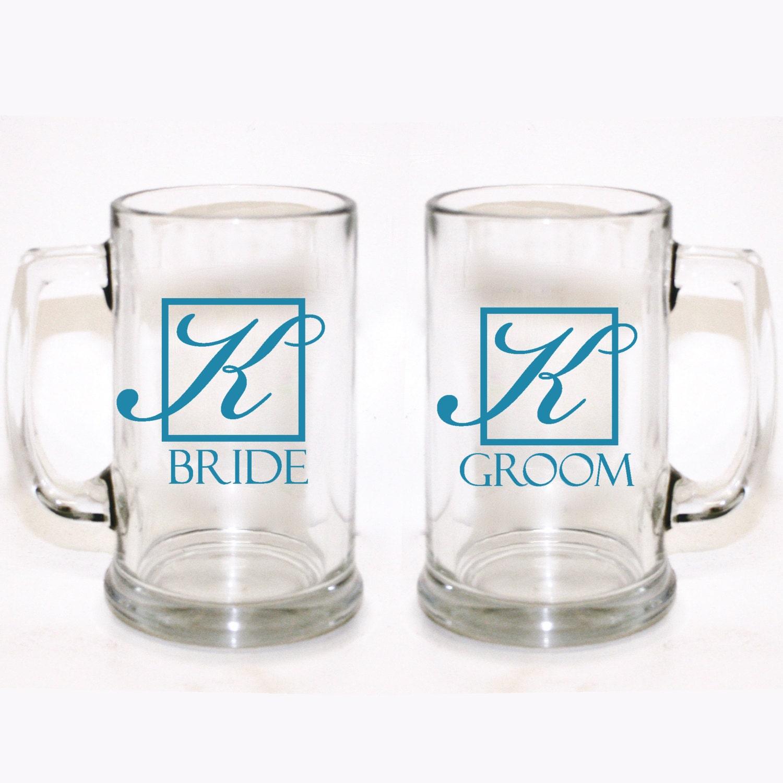 Customized Wedding Mugs : Custom Bride and Groom Mugs Custom Wedding Glasses Custom