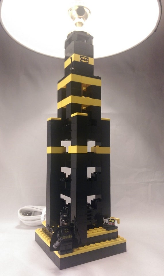 Batman Themed Lego Lamp For Your Bedroom Nightstand Desk Or