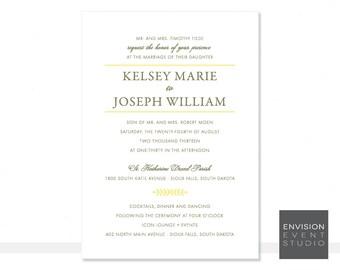 Modern Wedding Invitation Ensemble