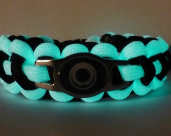 Tron Light Disc (Glow in the Dark) Paracord Bracelet