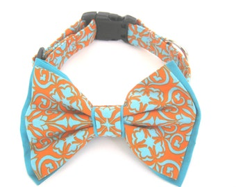 Dog Bow Tie Collar Removable Bow Tie And Collar Dog Collar with Bow Tie Large Dog Collar Pet Collar