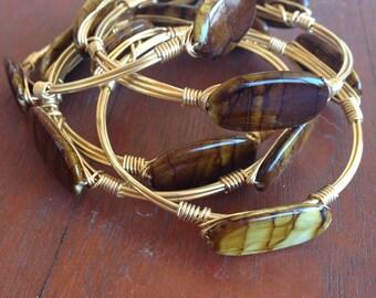 Brown tiger bangle