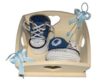 Crochet Pattern (043): Baby-Sneakers