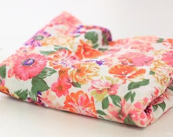 Cotton Fabric Big Flower By The Yard