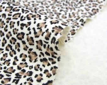 Stretch Rib Knit Fabric Leopard By The Yard