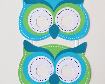 DIY Printable Owl masks - Instant download