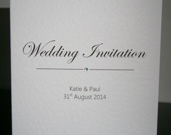 5 Personalised Wedding / Evening Invitations - Any Text Any Colour
