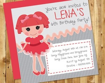 La La Loopsy Customizable Birthday Invitation