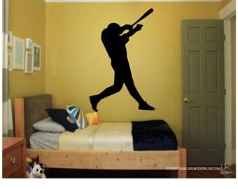Baseball Player Wall Decal - Kids Room Decor - Baseball Decal - Home Decor