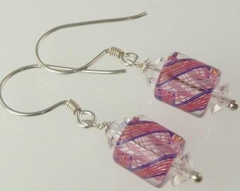 Artisan - Sterling Silver Furnace Glass Earrings E101