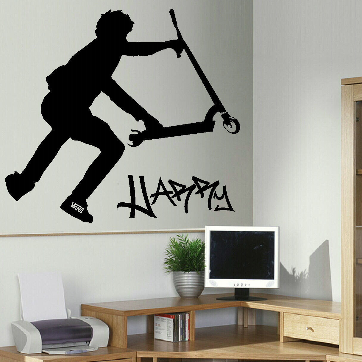 Scooter wall stickers gallery home wall decoration ideas extra large personalised stunt scooter wall transfer art zoom amipublicfo gallery amipublicfo Gallery