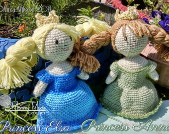 Princess Anna and Elsa Dolls **pattern**