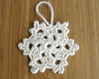 Crocheted snow flake