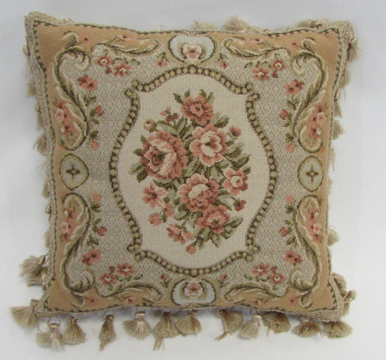 Victorian Vintage Textile Pillow