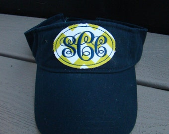 Monogrammed Sun Visor with Patch