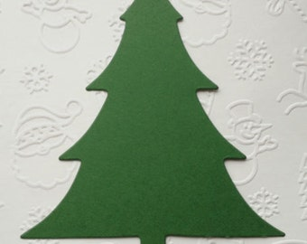 15 Large dark green Sizzix Christmas tree duts for cards toppers cardmaking scrapbooking craft project