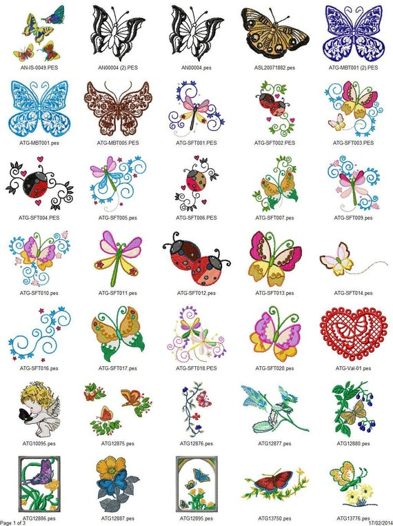 Butterflies Embroidery Designs - PES - 85 designs