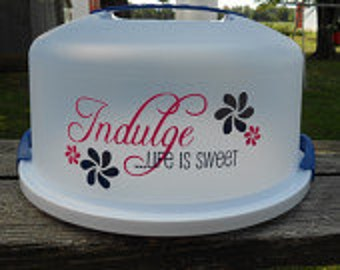 Monogrammed Cake Carrying Plate