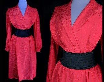 Vintage ARGENTI red silk dress • Material Collections