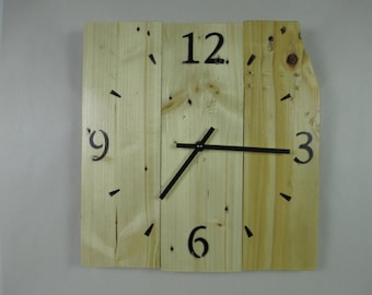 Wall clock wooden pallet LIQUIDATION