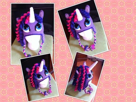 Crochet Unicorn Pony Hat
