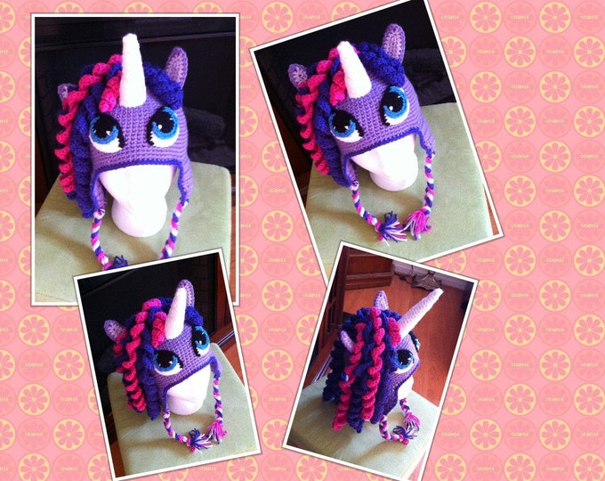 Crochet Unicorn Pony Hat