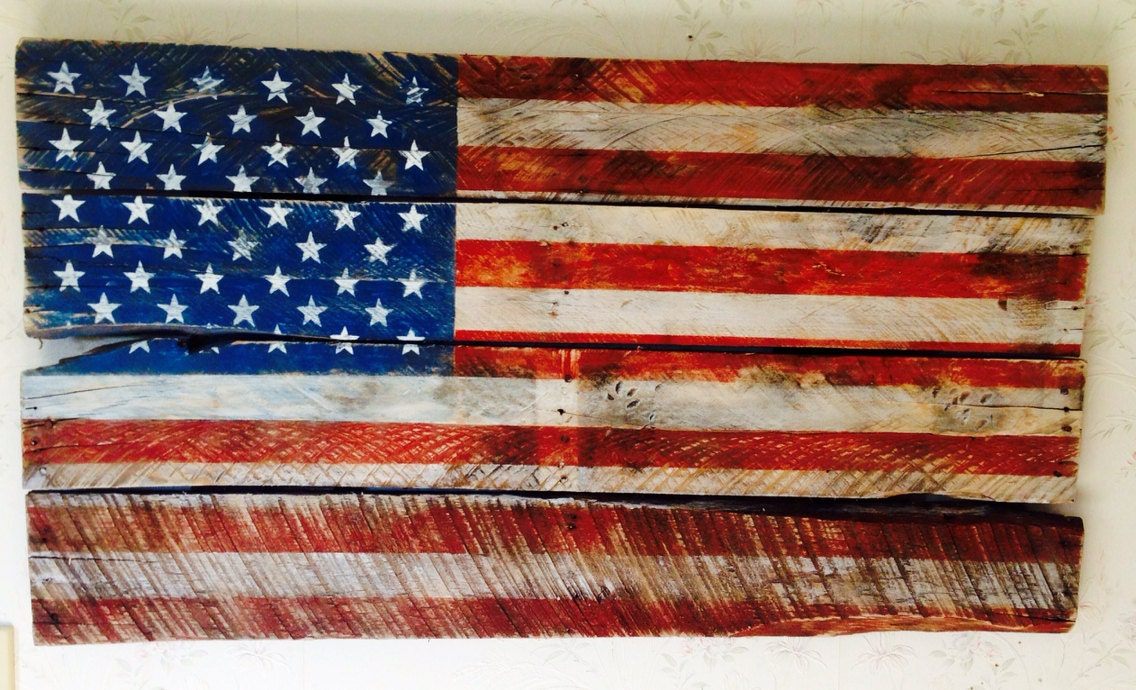 American Flag made from an old pallet Rustic and Patriotic