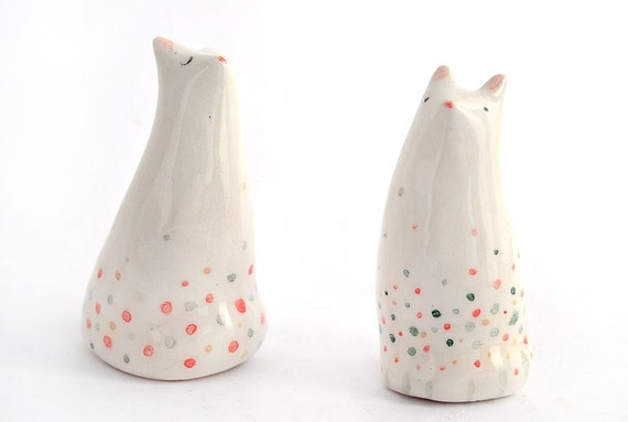 ceramic cat figurines