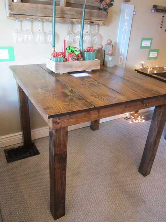 Items similar to Counter Height Farm Table Solid Pine Construction on Etsy