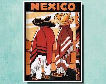 MEXICO - Vintage Travel Poster - 1932 - Mexico SG144