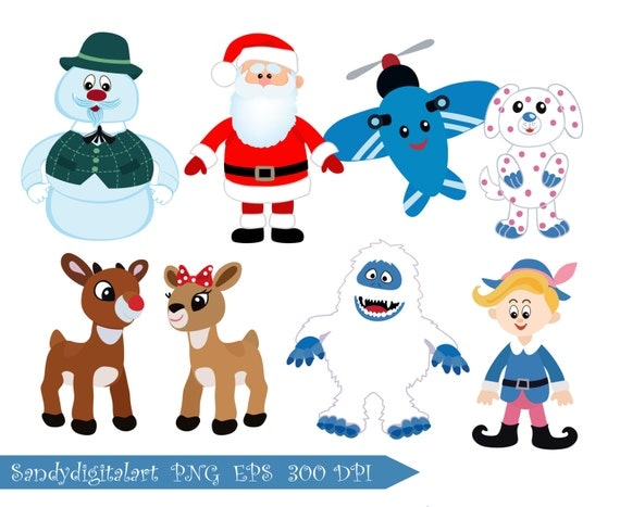 Rudolph the RedNosed Reindeer clipart Christmas by