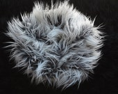 "30"" x 18"" IN STOCK Frosted Gray Mongolian Faux Fur, Photography Prop, Basket Filler, Newborn Photography, Ready to Ship, Long Pile Faux Fur"