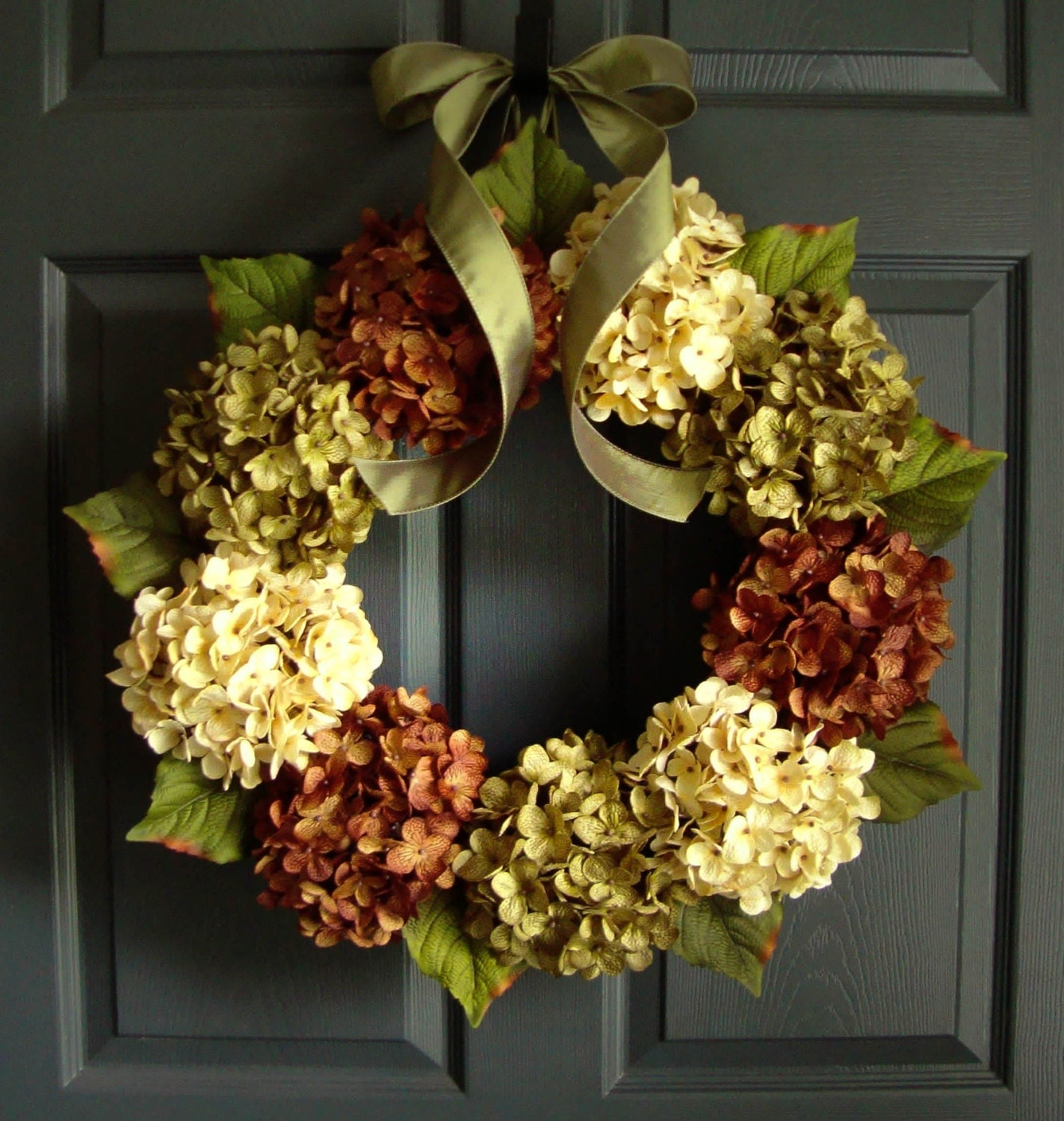 Wreaths Fall Door Wreath Hydrangea Wreaths Front Door