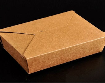 50pcs of Kraft paper lunch box, take away box C size 21.5 x 16cm